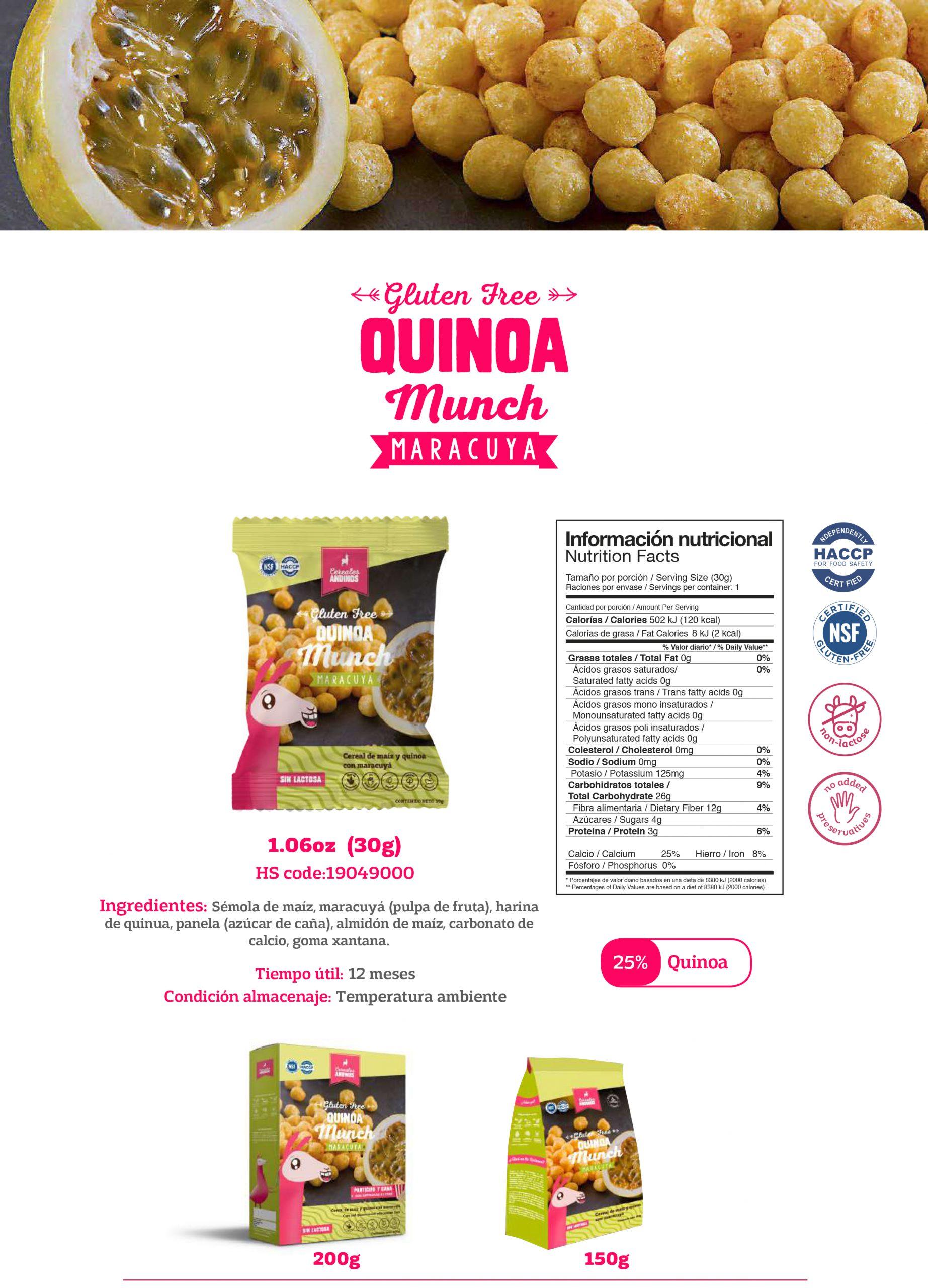 Productos a base de Quinua